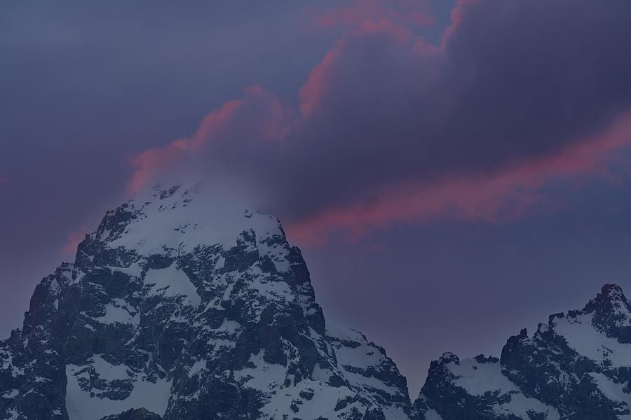 Grand Teton Cloud Stack Photograph