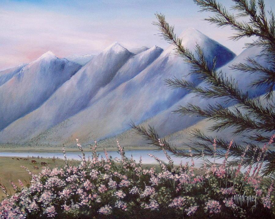 Grand Teton Mountains Painting - Grand Teton Mountains by Allan Carey