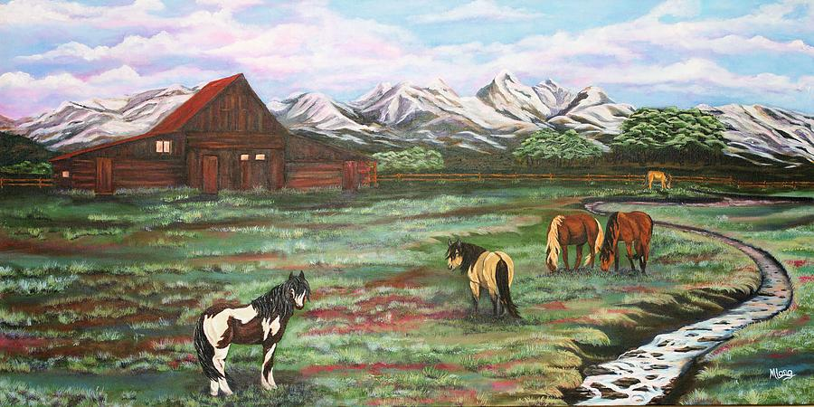 Grand Teton Mountains Painting