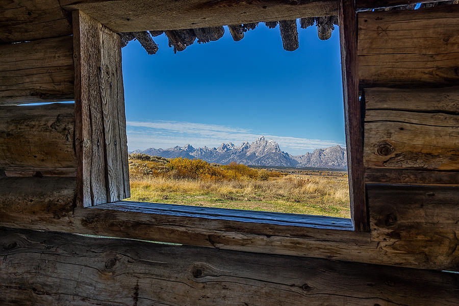 Grand Teton National Park Photograph - Grand Teton National Park - Cunningham Cabin by Jason Penland