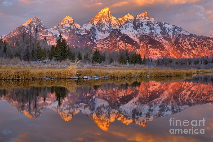 Teton Photograph - Grand Teton Snake River Sunrise Reflections by Adam Jewell