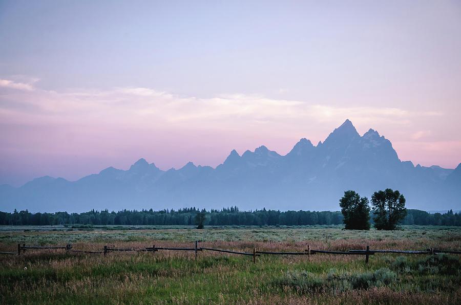 Grand Tetons Photograph - Grand Teton Sunset by Margaret Pitcher