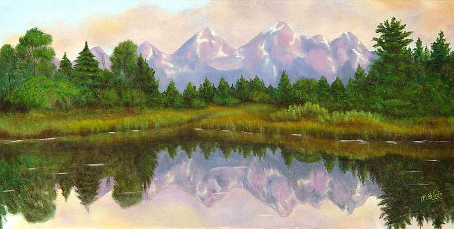 Landscape Painting - Grand Tetons by Merle Blair