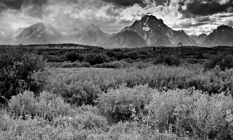 Mountains Photograph - Grand Tetons by Patrick  Flynn