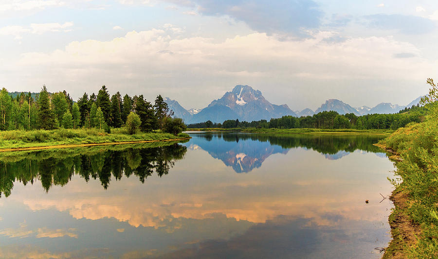 Grand Photograph - Grand Tetons Reflection by Scott Moore