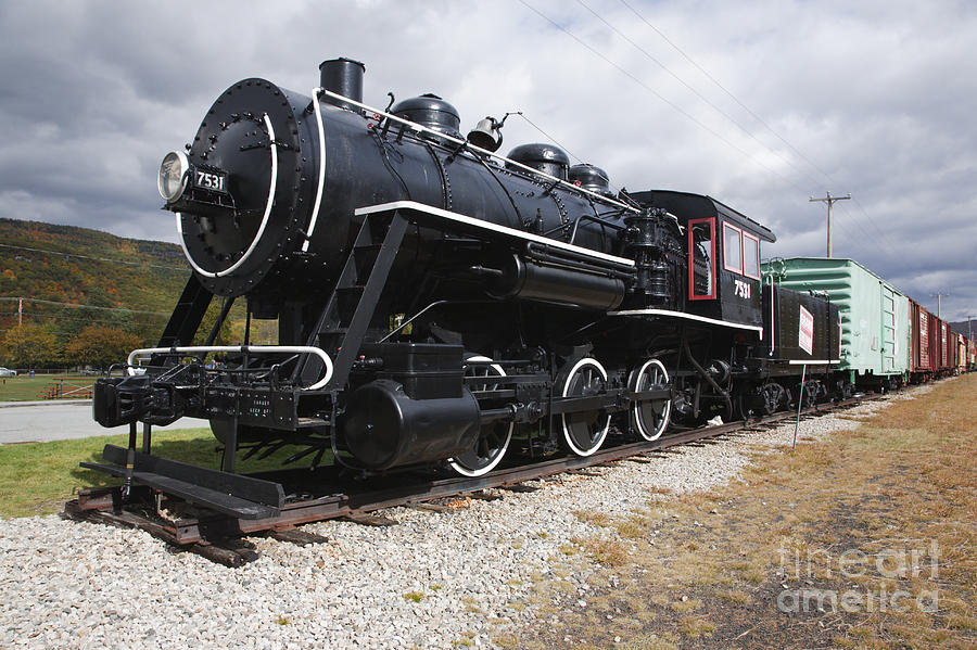 Travel Photograph - Grand Trunk Railroad - Gorham New Hampshire Usa by Erin Paul Donovan