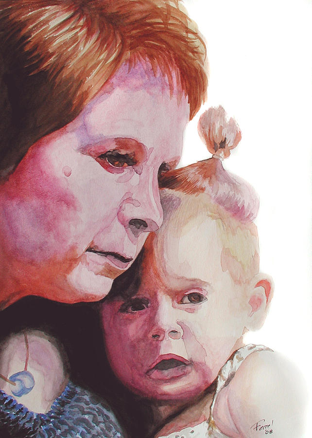 Baby Painting - Grandchild by Ferrel Cordle