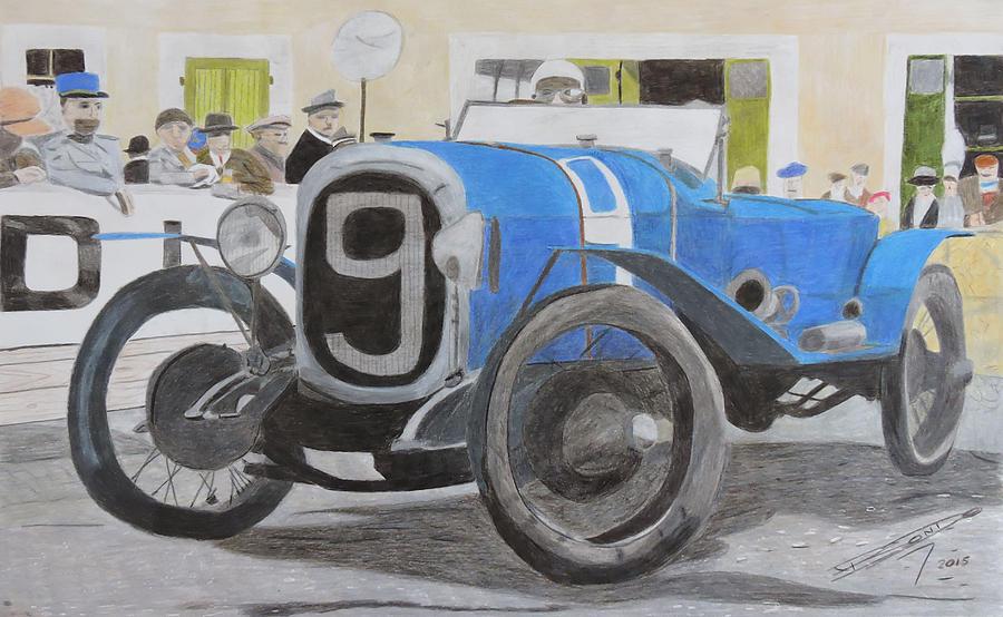 Race Car Drawing - Granddaddy Of Them All  by Gustavo Bondoni