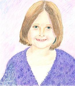 Granddaughter Drawing by Rosalie Ferry