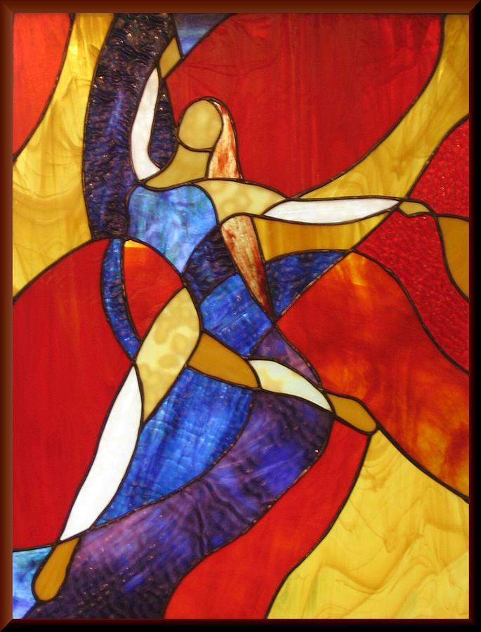 Dancer Glass Art - Grande Saute by Howard Mendelson