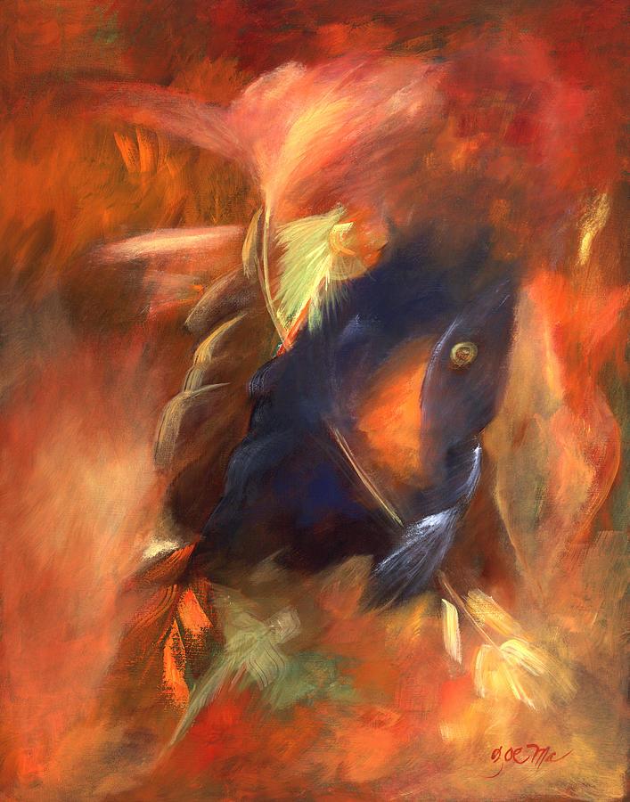 Native Painting - Grandfathers Light by Zoe Landria