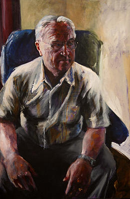 Portrait Painting - Grandfathers Time by Michelle Winnie