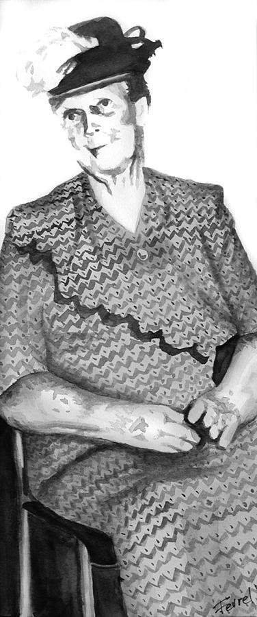 Grandmother Painting - Grandma by Ferrel Cordle