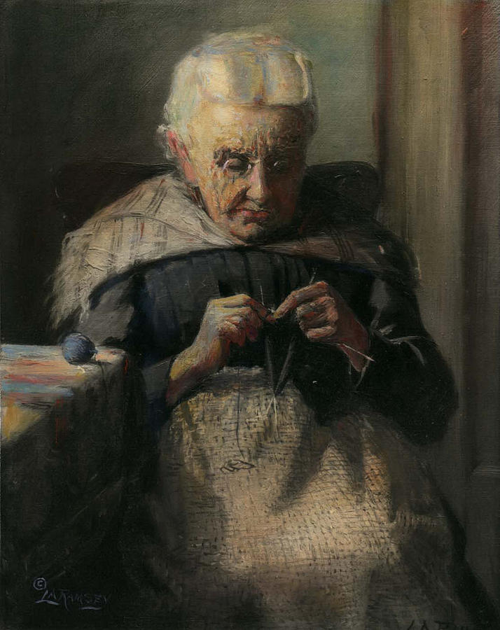 Portraits Painting - Grandma by Lewis A Ramsey