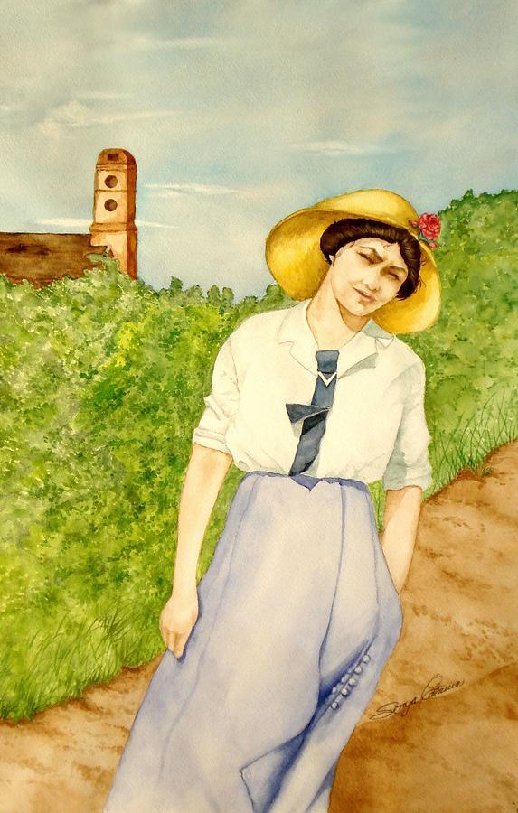 Portrait Painting - Grandma by Sonya Catania