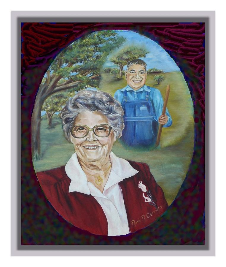 Portrait Painting - Grandma Virginia by Rosie R Carrillo