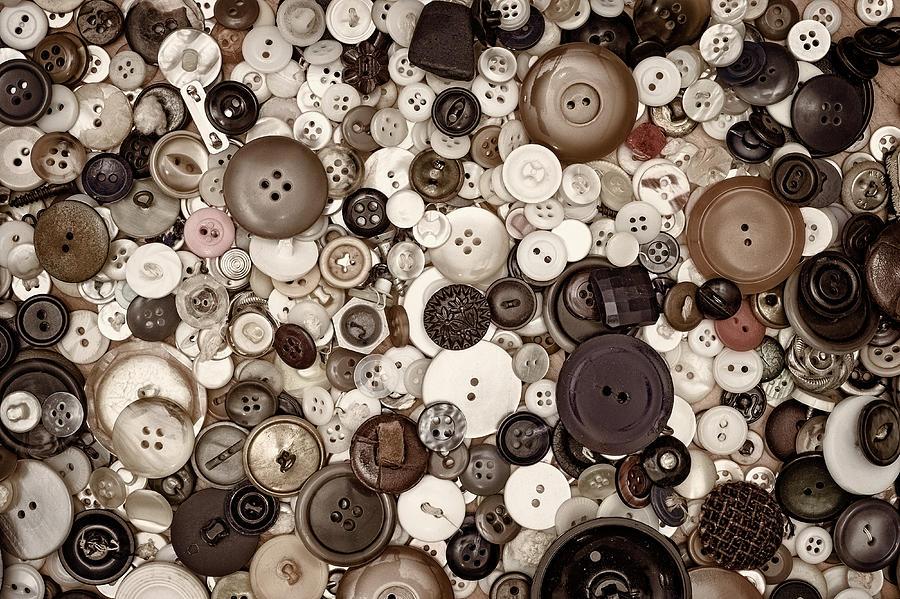 Grandmas Buttons Photograph