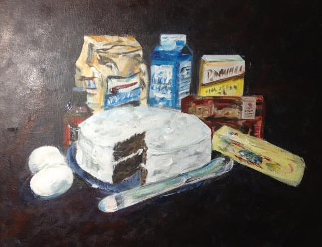 Grandmas Chocolate Cake Painting by Tim Martin