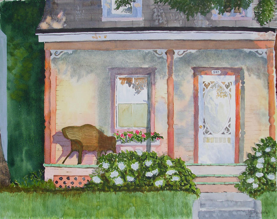 House Painting - Grandmas Front Porch by Ally Benbrook