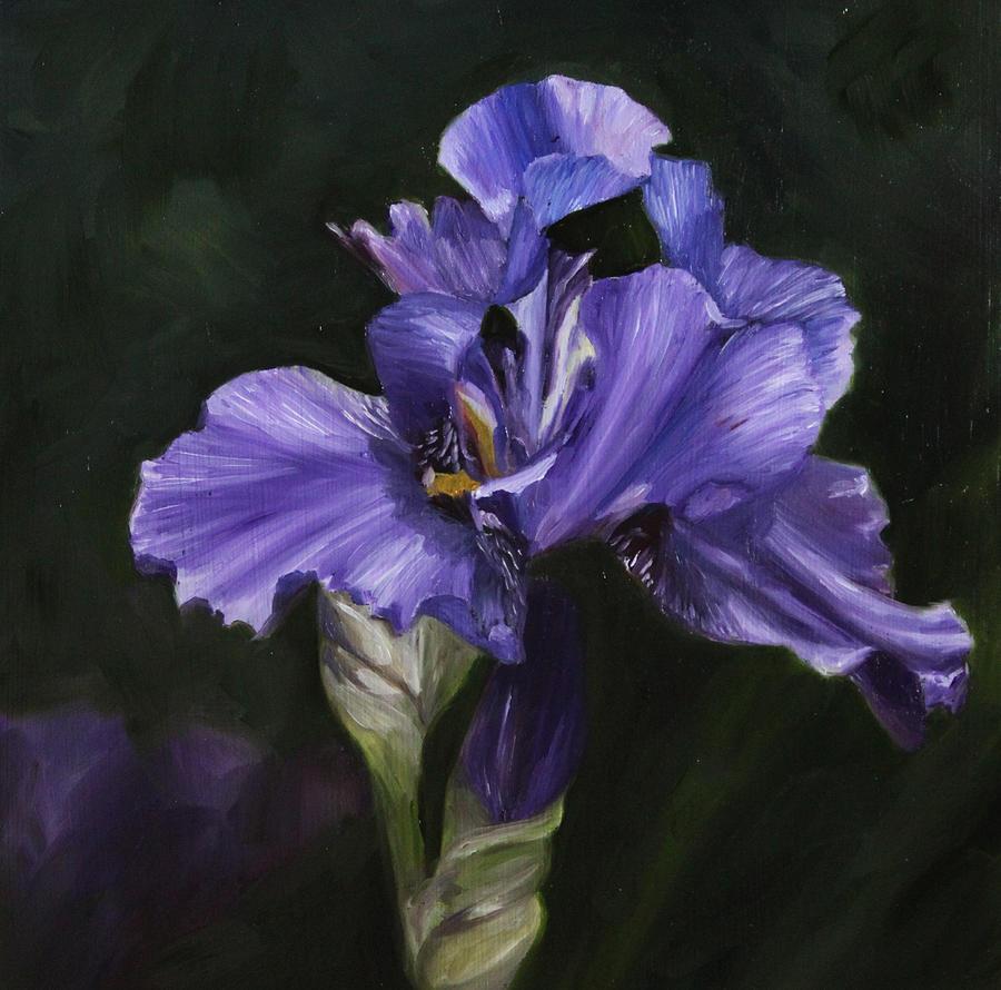 Grandmas iris painting by cindy cradler iris painting grandmas iris by cindy cradler izmirmasajfo