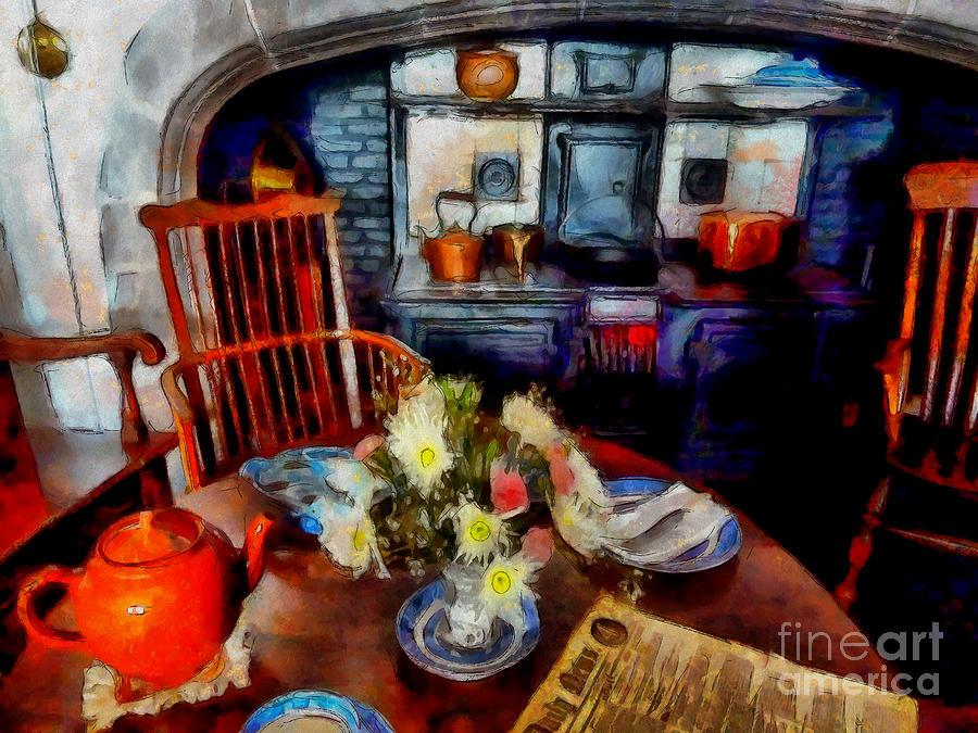 Grandma Photograph - Grandmas Kitchen by Claire Bull