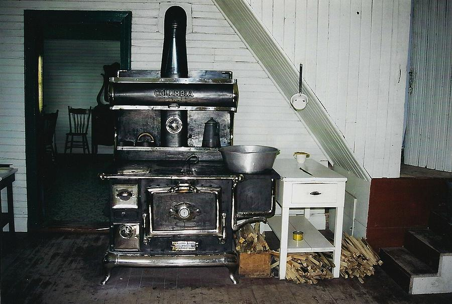 Oldtimers Photograph - Grandmas Kitchen by Shirley Sirois