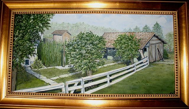Landscape Painting - Grandmas  by Pat  Corbett