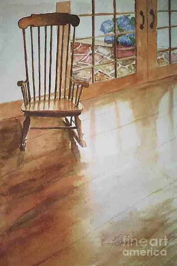 Chair Painting - Grandmas Rocker by Glen Ward
