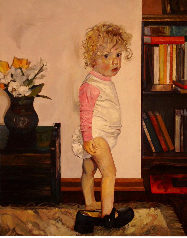Canadian Painting - Grandmas Shoe by Tim  Heimdal