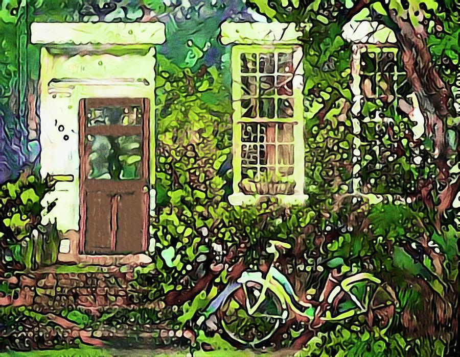 Quaint Home Mixed Media - Grandmoms House by Susan Maxwell Schmidt