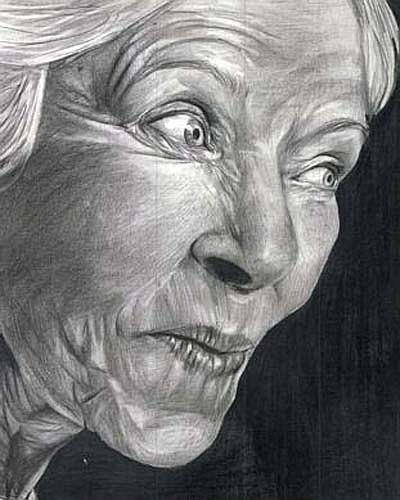 Drawing Drawing - Grandmother by April Mae