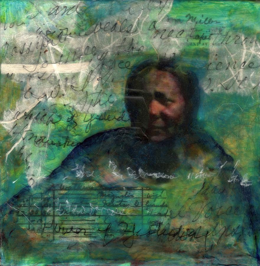Family Mixed Media - Grandmother Cora-Study by Cora Marshall