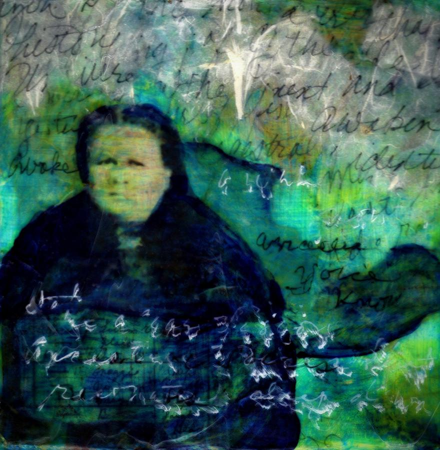 Family Mixed Media - Grandmother Maggie-Study by Cora Marshall