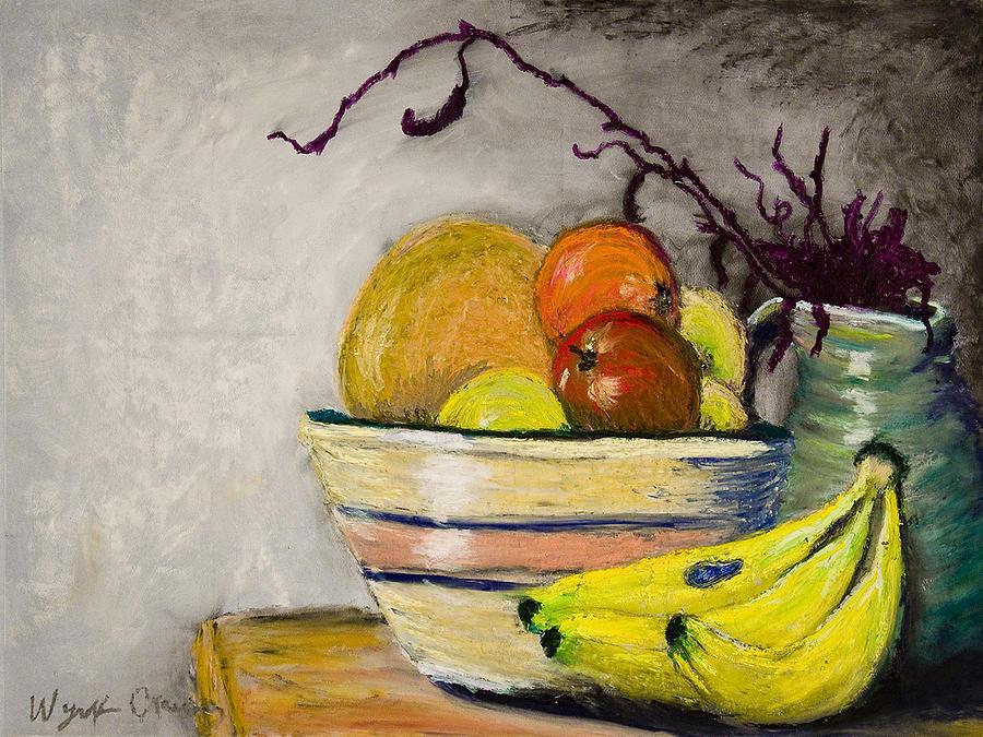 Still Life Painting - Grandmothers Bowl by Wynn Creasy