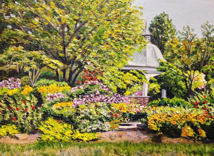 Garden Painting - Grandmothers Garden by Richard Nowak
