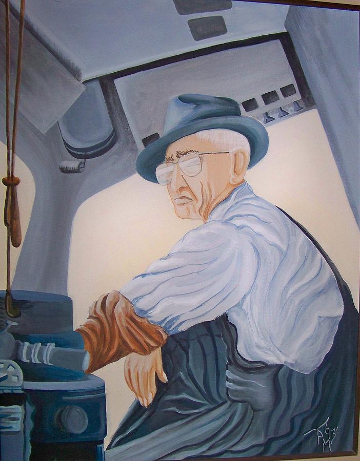 Southern Pacific Railroad Painting - Grandpa Albee by Tammera Malicki-Wong