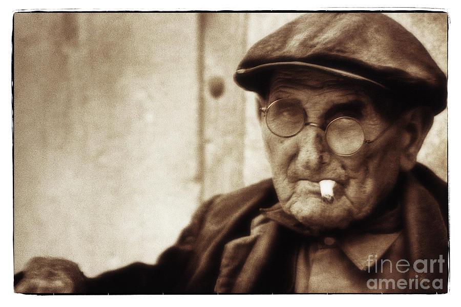 Man Photograph - Grandpa, Catalonia 1976 by Michael Ziegler