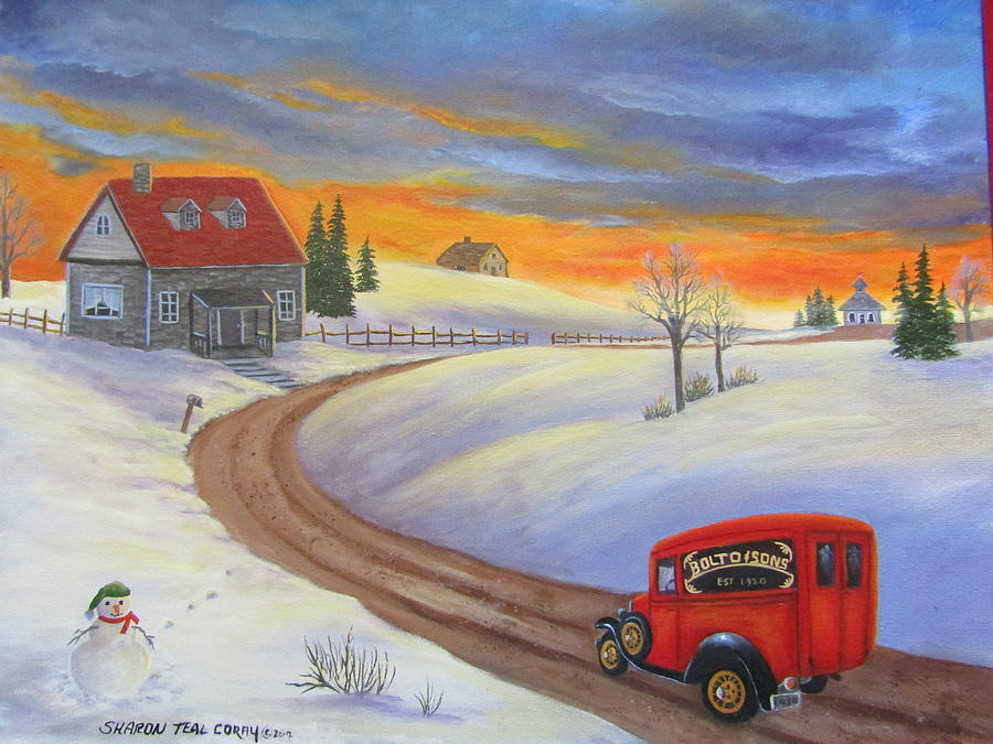 Grandpas Delivery Truck Painting by Sharon Coray