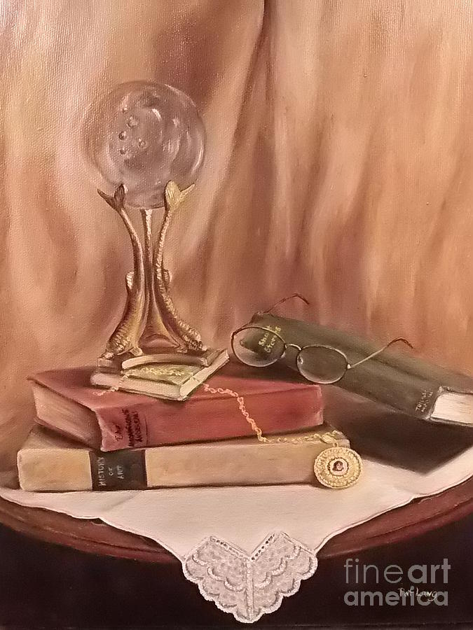 Still Life Painting - Grannies Locket by Patricia Lang