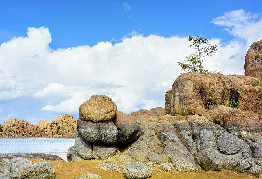 Granite Boulders At Watson Lake Photograph