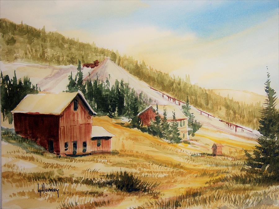 Ghost Town Painting - Granite Montana by Kevin Heaney