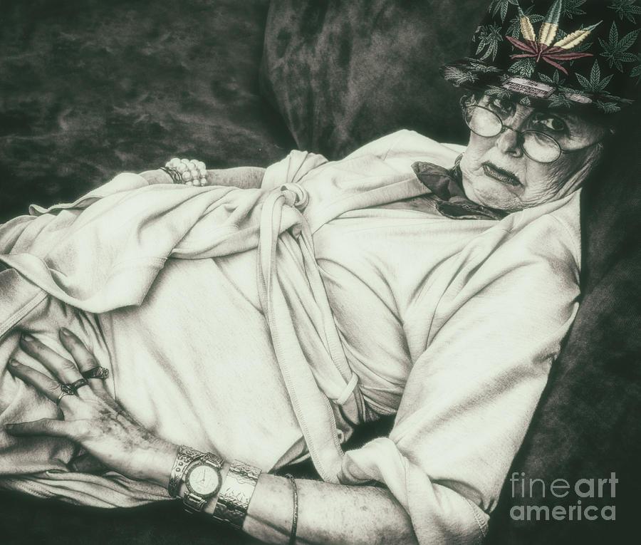 Portraits Photograph - Granny on Cannabis  by Steven Digman