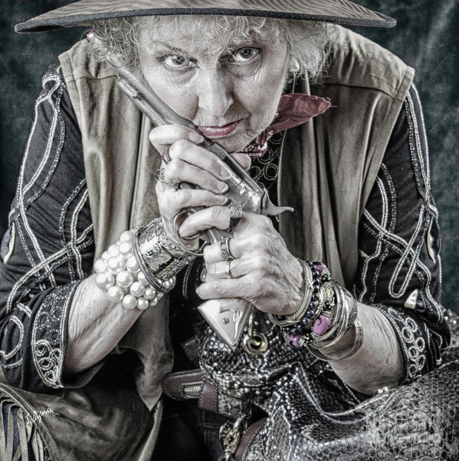 Beauty Photograph - Granny With Her Gun  by Steven Digman