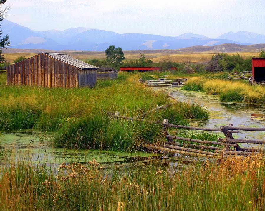 Ranch Photograph - Grant Khors Ranch Deer Lodge  Mt by Marty Koch