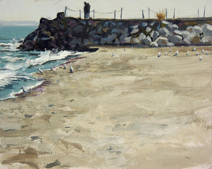 Plein Air Painting - Grant Park Beach No. 5 by Anthony Sell