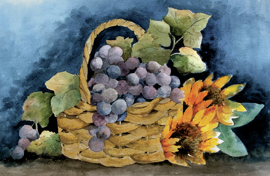 Grape Basket by Lael Rutherford