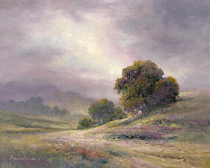 Oil Painting - Grape Sky by Patricia Carlson