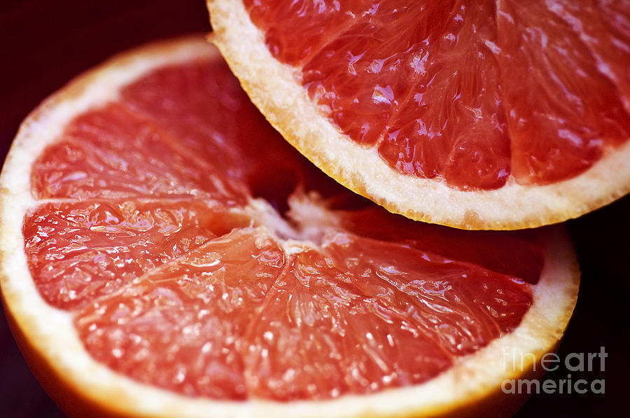 Circle Photograph - Grapefruit Halves by Ray Laskowitz - Printscapes