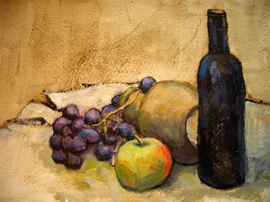 Apple Painting - Grapes  by Alfons Niex