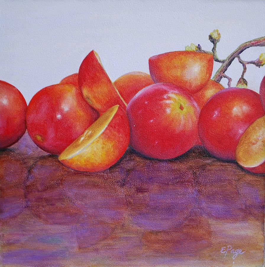Realism Painting - Grapes by Emily Page